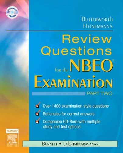 9780750675666: Butterworth Heinemann's Review Questions for the NBEO Examination:  Part Two, 1e