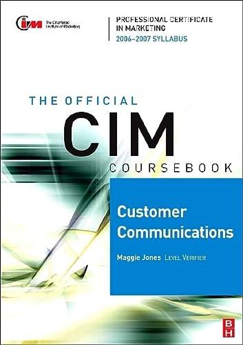 9780750680035: CIM Coursebook 06/07 Customer Communications