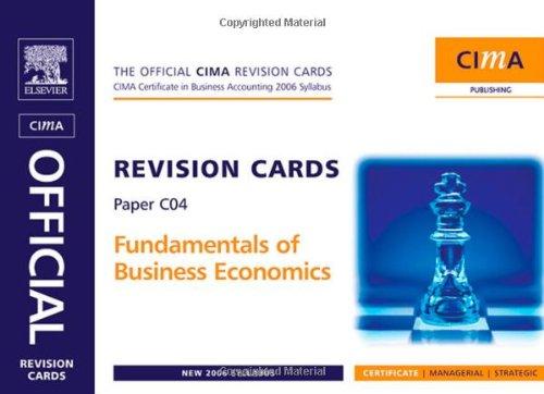 9780750680790: CIMA Revision Cards Fundamentals of Business Economics (CIMA Certificate Level 2008)