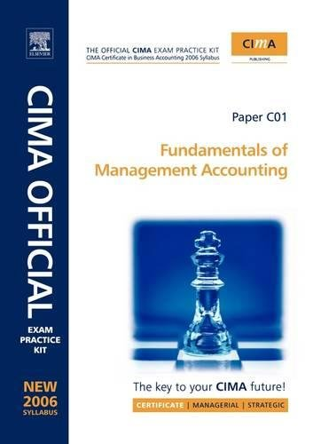9780750680820: CIMA Exam Practice Kit Fundamentals of Management Accounting: CIMA Certificate in Business Accounting, 2006 Syllabus (CIMA Certificate Level 2008)