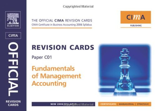 9780750681025: CIMA Revision Cards Fundamentals of Management Accounting (CIMA Certificate Level 2008)