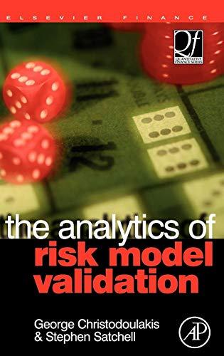 9780750681582: The Analytics of Risk Model Validation (Quantitative Finance)