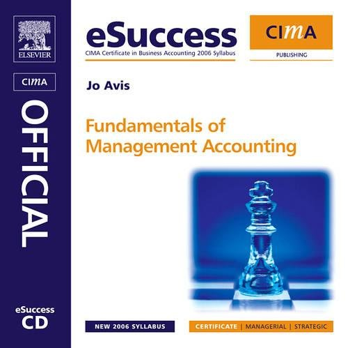 9780750681810: CIMA eSuccess CD Fundamentals of Management Accounting