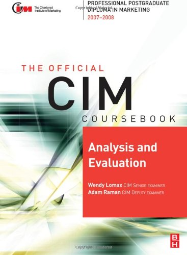 The Official Cim Coursebook Analysis and Evaluation: Lomax, Wendy/ Raman,
