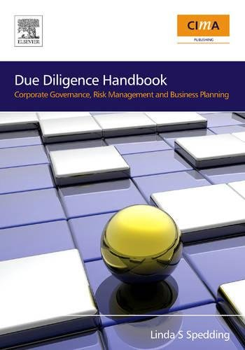 9780750686211: Due Diligence Handbook: Corporate Governance, Risk Management and Business Planning