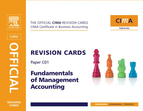 9780750686990: CIMA Revision Cards Fundamentals of Management Accounting, Second Edition (CIMA Certificate Level 2008)