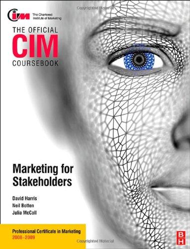 9780750689663: CIM Coursebook Stakeholder Marketing (Official CIM Coursebook)