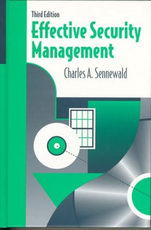 9780750699075: Effective Security Management, Third Edition