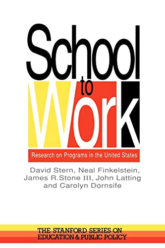 9780750704298: School To Work: Research On Programs In The United States (Stanford Series on Education and Public Policy)