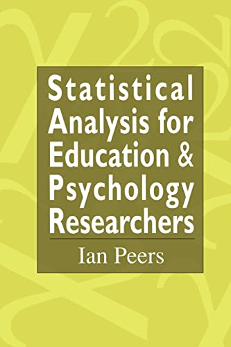 9780750705066: Statistical Analysis for Education and Psychology Researchers: Tools for researchers in education and psychology