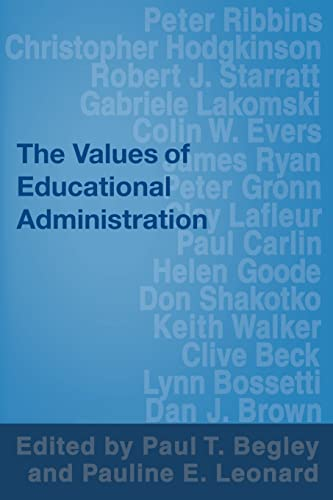 9780750709361: The Values of Educational Administration: A Book of Readings