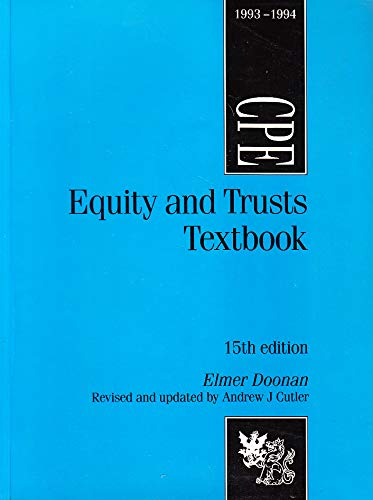 9780751003246: Equity and Trusts: Textbook (Common Professional Examination)