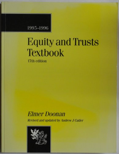 9780751005332: Equity and Trusts: Textbook (Bachelor of Laws (LLB))