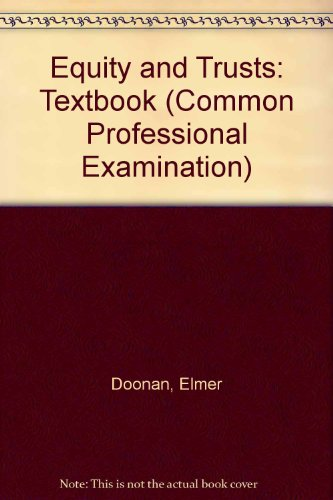 9780751005493: Equity and Trusts: Textbook (Common Professional Examination)