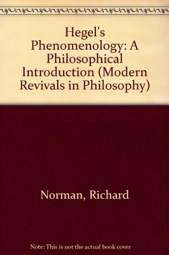 9780751200157: Hegel's Phenomenology: A Philosophical Introduction (Modern Revivals in Philosophy)