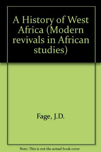 A History of West Africa: An Introductory: Fage, J. D.