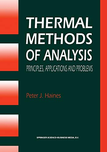 9780751400502: Thermal Methods of Analysis: Principles, Applications and Problems