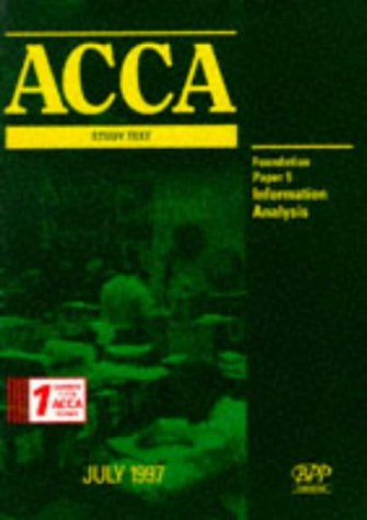 9780751700695: ACCA Study Text: Certificate Paper 5