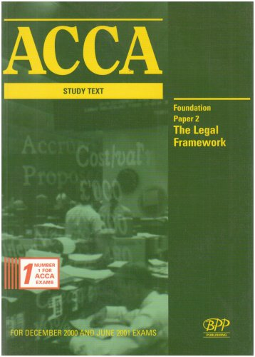 9780751701869: ACCA Paper 2 - Foundation: the Legal Framework: Exam