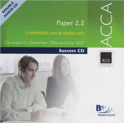 9780751728385: ACCA Paper 2.2 Corporate and Business Law 2006 (Success)