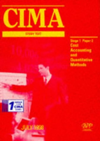 9780751731019: CIMA Study Text: Cost Accounting and Quantitative Methods Paper 2