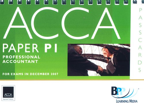 9780751732771: ACCA (New Syllabus) - P1 Professional Accountant: Passcards