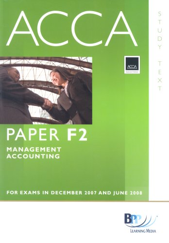 9780751732870: Acca New Syllabus - F2 Management Acc