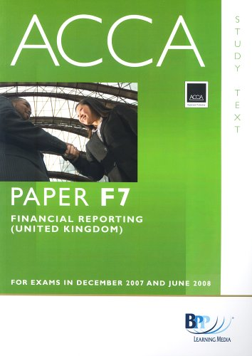 9780751732931: Acca New Syllabus - F7 Financial Repor