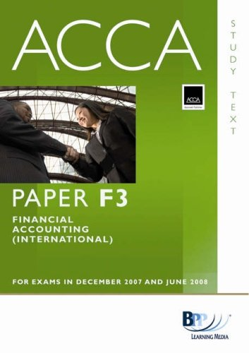 9780751732962: ACCA (New Syllabus) - F3 Financial Accounting (International