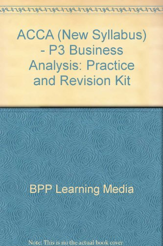 9780751733709: ACCA (New Syllabus) - P3 Business Analysis: Practice and Revision Kit