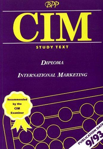 9780751740073: Diploma International Marketing CIM Study Text