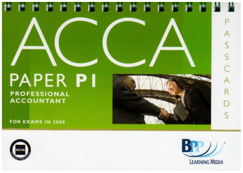 9780751746679: ACCA - P1 Professional Accountant: Passcards