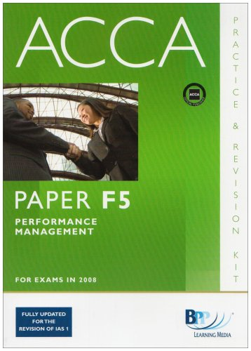 9780751746822: ACCA - F5 Performance Management: Practice and Revision Kit