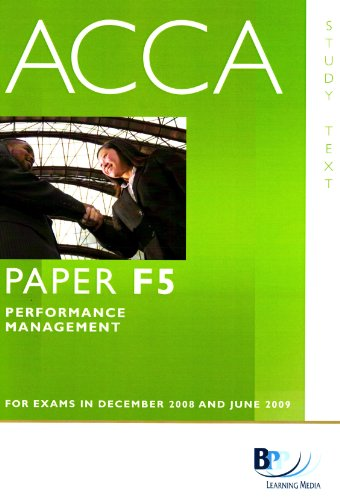 9780751747263: Acca - F5 Performance Management (Study Text)