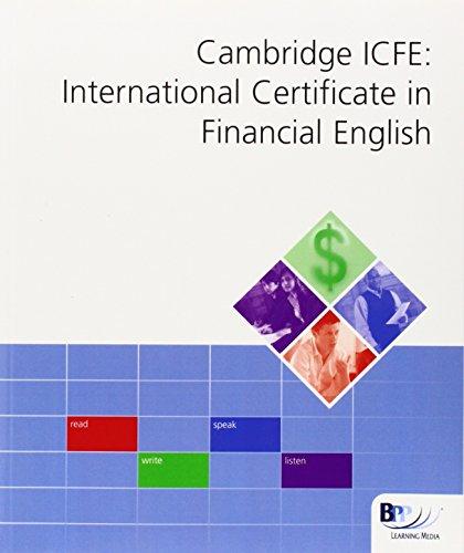 9780751754933: Cambridge International Certificate in Financial English (ICFE): Workbook