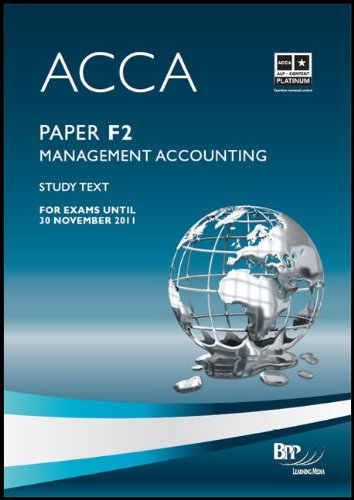 9780751763621: ACCA - F2 Management Accounting: Study Text
