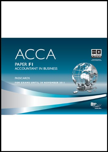 9780751767407: ACCA - F1 Accountant in Business: Paper F1: Passcards