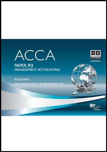9780751767414: ACCA - F2 Management Accounting: Paper F2: Passcards