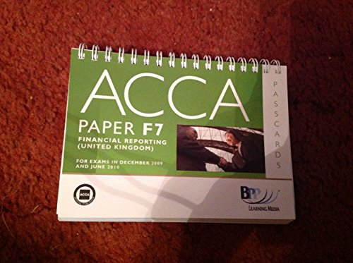 9780751767483: ACCA - F7 Financial Reporting (GBR): Paper F7: Passcards