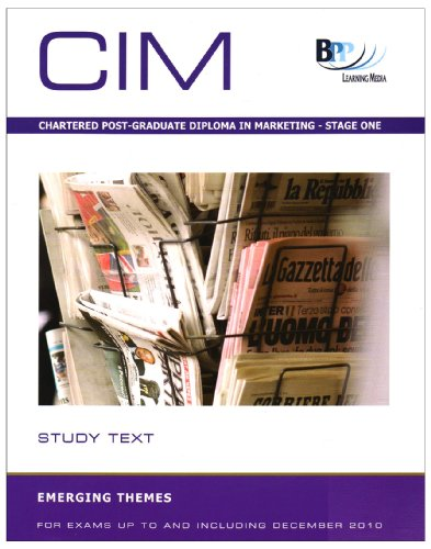 9780751768169: Chartered Institute of Marketing (CIM) - 9 Emerging Issues: Study Text