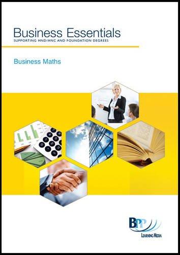 9780751768428: Business Essentials - Business Maths: Study Text