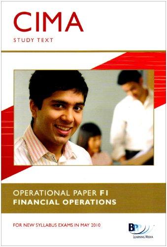 9780751775037: CIMA - F1: Financial Operations: Study Text