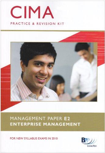 9780751775198: CIMA - E2: Enterprise Management: Revision Kit