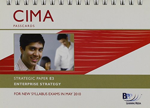 9780751775297: CIMA - E3: Enterprise Strategy: Startegic paper E3: Passcards