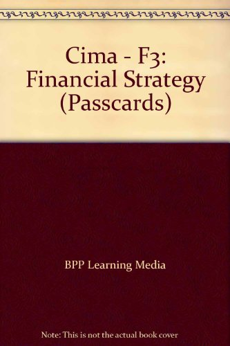 9780751775327: CIMA F3 Financial Strategy: Passcards
