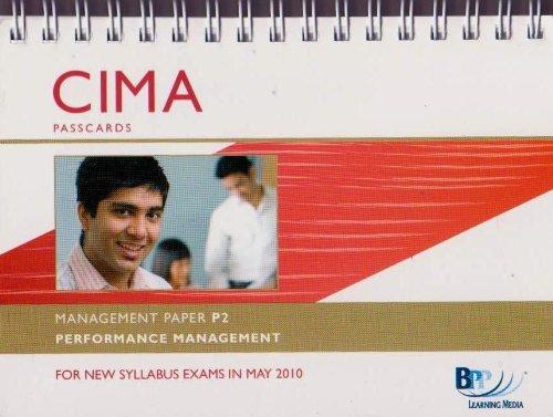 9780751775341: CIMA - P2: Performance Management: Management paper P2: Passcards