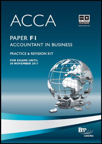 9780751780468: ACCA - F1 Accountant in Business: Paper F1: Revision Kit