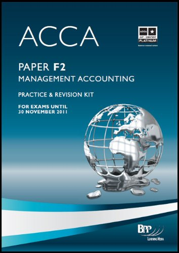 9780751780475: ACCA - F2 Management Accounting: Paper F2: Revision Kit