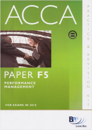9780751780529: ACCA - F5 Performance Management: Paper F5: Revision Kit