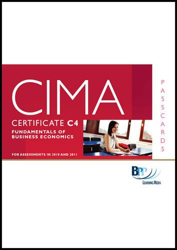 9780751780864: CIMA - C04 Fundamentals of Business Economics: Passcards